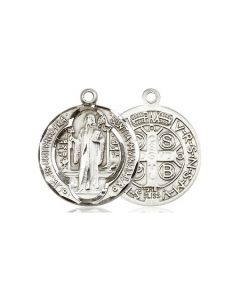 """St Benedict Medal SS 18"""" Chain"""