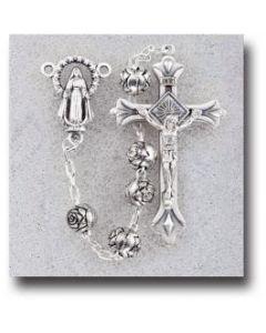 Silver Rosebud Beads