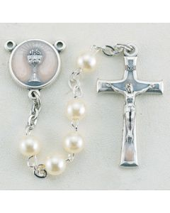 White Pearlized Rosary