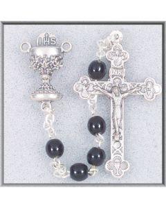 Black 1st Communion Rosary