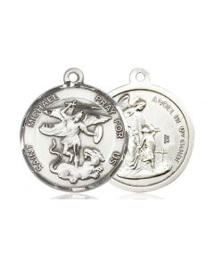 """St Michael the Archangel SS medal 24"""" Chain"""