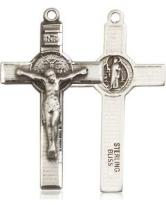 "St Benedict Crucifix SS 18"" chain"