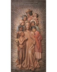 Jesus with Children of the World High Relief