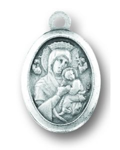 Our Lady of Perpetual Help/Saint Gerard Oxidized Medal