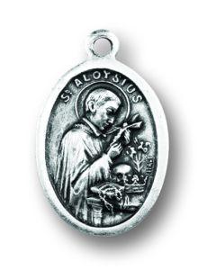 Saint Aloysius Oxidized Medal