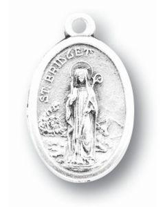 Saint Bridget Oxidized Medal