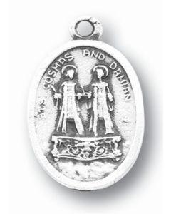 Saints Cosmas/Damian Oxidized Medal