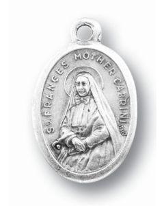 Mother Cabrini Oxidized Medal