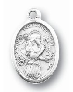 Saint Gabriel Silver Oxidized Medal