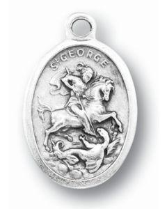 Saint George Oxidized Medal