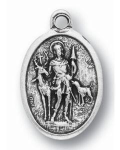 Saint Hubert Oxidized Medal
