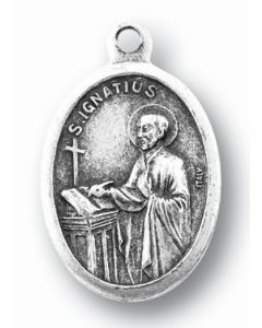 Saint Ignatius of Loyola Oxidized Medal