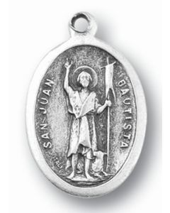 Saint John the Baptist Oxidized Medal