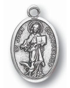 Saint John the Evangelist Oxidized Medal
