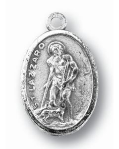 Saint Lazarus Oxidized Medal