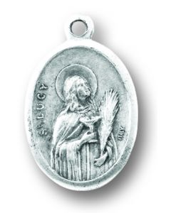 Saint Lucy Oxidized Medal