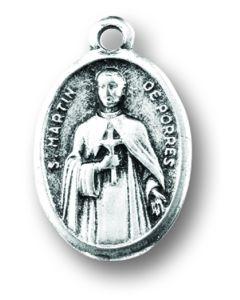 Saint Martin de Porres Oxidized Medal