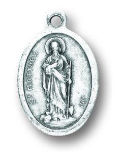 Saint Matthew Oxidized Medal