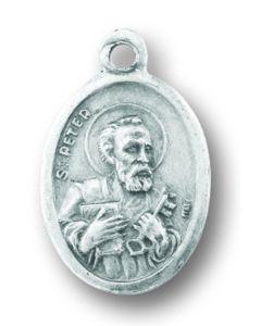 Saint Peter/Paul Oxidized Medal