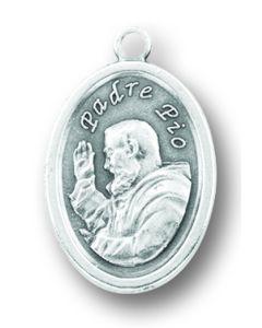 Saint Padre Pio Oxidized Medal