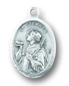 Saint Stephen Oxidized Medal