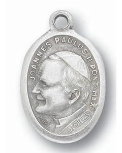 Saint John Paul II Oxidized Medal