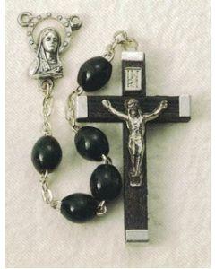 Black Wood Rosary Oval