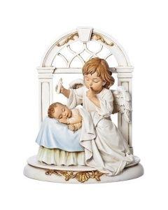 Angel with Sleeping Baby Figurine