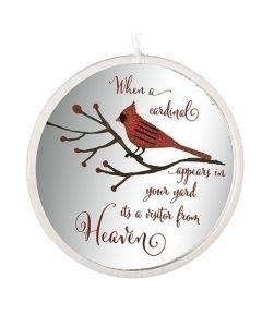 Cardinal Disk Ornament