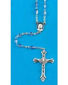 Rosary - Aurora Borealis Blue