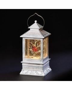 Swirl Lantern with Cardinal in Tree