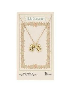 Scapular Double Necklace Gold over SS
