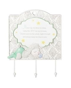 Lamb Wall Plaque with Hooks