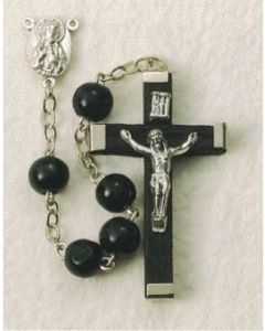 Black Wood Rosary Round