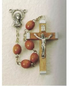 Natural Wood Rosary Oval