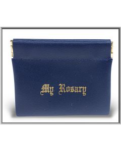Rosary Case Blue Leatherette