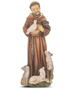"""St. Francis of Assisi 4"""" Statue"""