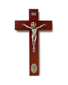 Rosewood Crucifix with Dove Medallion