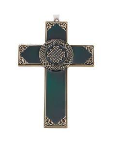 Irish Cross Dark Green Enamel