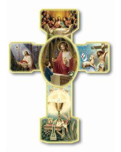 Boy 1st Communion Scene Cross