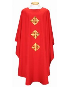 Chasuble with Hearts around Triple Cross