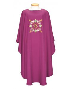 Chasuble with wreath around IHS