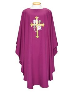 Chasuble with Lg Cross and Lilies