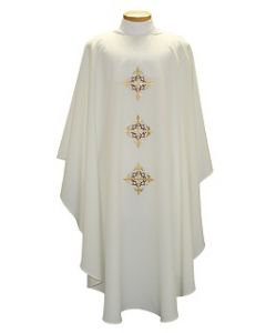 Chasuble with Triple Cross with Crown of Thorns