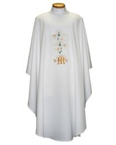 Chasuble with Lilies with Marian Symbols