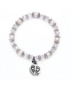 Prayer box Bracelet Crystal/White