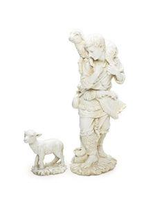 Shepherd and Lamb figurine