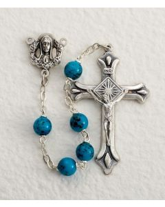 Aqua Rosary speckled