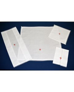 Lace Edged Mass Linen Red Cross