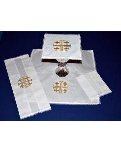 Lace Edged Mass Linen with Jerusalem Cross